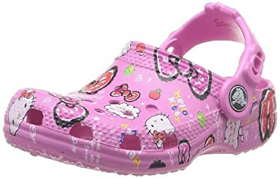 Crocs Hello Kitty Good Times, Sabots fille, Rose (Party Pink), EU 29-31, (US C12C13)