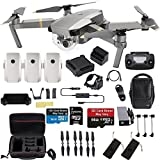 DJI Mavic Pro Platinum Fly More Combo Travel Bundle: 2 Extra Batteries, Professional Case and More (Color: Platinum Fly More)