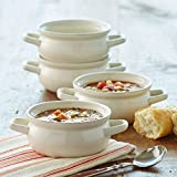 CHEFS Fresh Valley Double Handle Soup Bowls, Set of 4