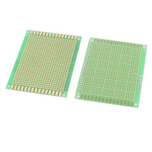 GUWANJI 5 Pcs Double Side Prototype Solderable Universal PCB Board 7x9cm (Pc Board Etching compare prices)