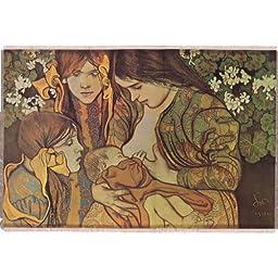 Silkscreen - Stanislaw Wyspianski: Macierzynstwo (Motherhood) 18.375\