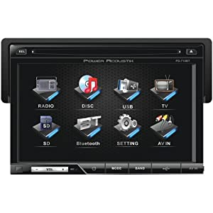 POWER ACOUSTIK PD-710B 7'' Single-DIN In-Dash TFT/LCD Touchscreen DVD Receiver (With Bluetooth(R))