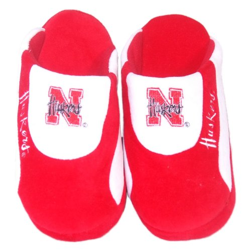 Comfy Feet NCAA Low Pro Stripe Slippers - Nebraska Cornhuskers