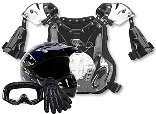 Youth Peewee Offroad Gear Combo Helmet Gloves