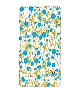 Vogueshell Blue Flower Pattern Printed Symmetry PRO Series Hard Back Case for Lenovo A6000