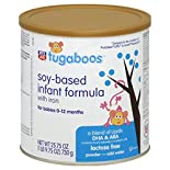 Rite Aid Tugaboos Infant Formula, Soy Based, with Iron, Powder, 0-12 M, 25.75 oz (1 lb 9.75 oz) 730 g