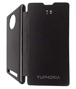 Discounts Bazar Flip Cover For Micromax Yu Yuphoria AQ5010 - Black