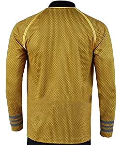 Fantasy Shop Star Trek Into Darkness Cosplay Costume Captain Kirk Shirt Yellow