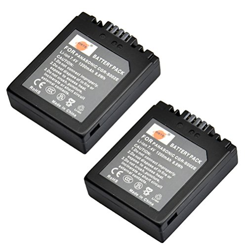 DSTE 2-Pack Ersatz Batterie Akku for Panasonic CGA-S002 CGA-S002A CGA-S002E Lumix DMC-FZ1 DMC-FZ2 DMC-FZ3 DMC-FZ4 DMC-FZ5 DMC-FZ10 DMC-FZ15 DMC-FZ20 Kamera