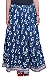 Beautiful Cotton Printed Blue Long Skirt From the house of Pezzava