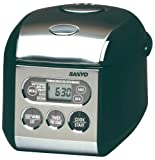Sanyo ECJ-S35K 3-1/2-Cup Micro-Computerized Rice Cooker/Warmer with Bread-Baking Function, Black