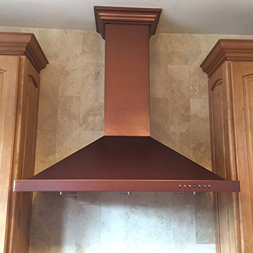 Z Line 8KBC-30 760 CFM Wall Mount Range Hood with Copper Finish, 30