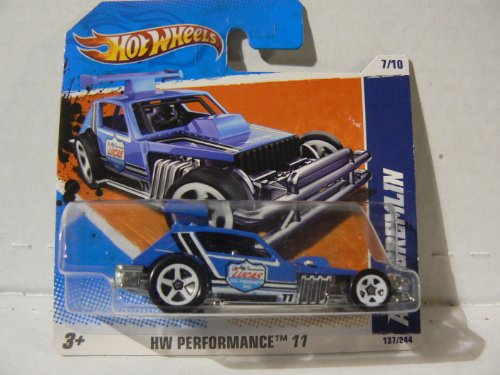 Hot Wheels HW Performance '11 7/10 AMC Gremlin on Short Card