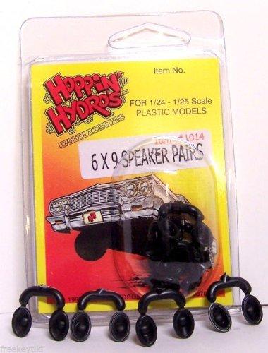 4 Black 6X9 Speakers (For Hobby Model Kits) 1/24 1/25 Scale