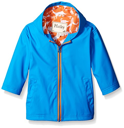 Hatley Big Boys Royal Wild Dinos Splash Jacket, Blue, 8