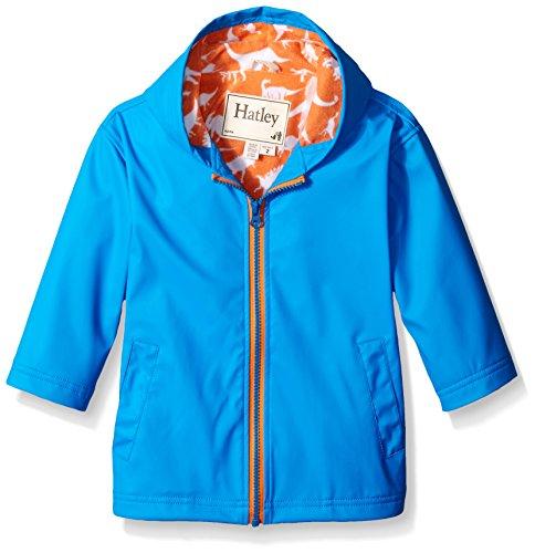 Hatley Big Boys Royal Wild Dinos Splash Jacket, Blue, 8