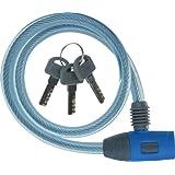 J&C(ジェイアンドシー) ワイヤーロック [JC-020W] φ10mm×600mm ブルー