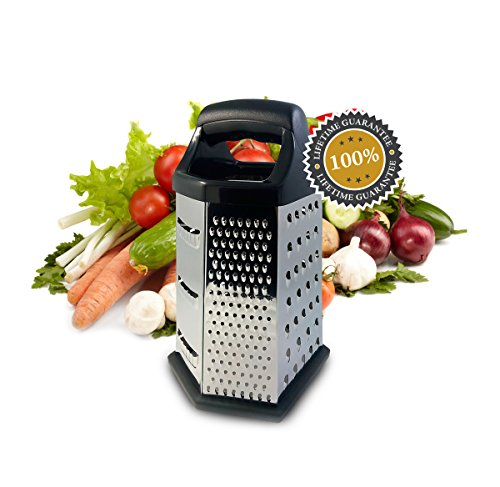 Isabella Dora Cheese Grater - Perfect Stainless Steel Box Grater for Vegetable, Ginger (Rachel Ray Box Slicer compare prices)