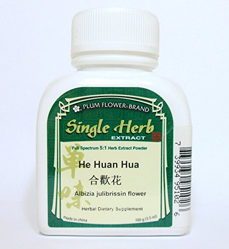 Albizia Julibrissin Flower Herb Extract Powder / He Huan Hua, 100g or 3.5oz (Albizzia Extract compare prices)