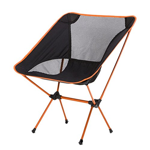 OUTAD Mini Portable Folding Chair for Outdoor Camping/Fishing /Picnic/ BBQ (Orange) (Bbq Camping compare prices)