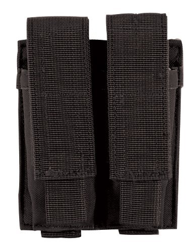 Voodoo Tactical MOLLE Compatible Double Pistol Magazine Pouch - Tactical Black