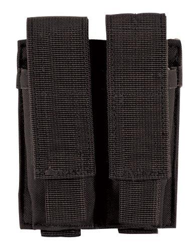 Voodoo Tactical MOLLE Compatible Double Pistol Magazine Pouch - Tactical Black