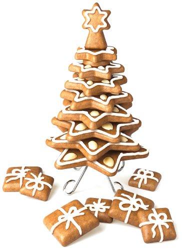 Tescoma Delícia Set stampini per biscotti a forma di alberi di Natale