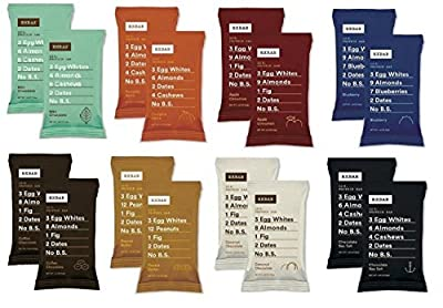 RxBar Real Food Protein Bars Variety Pack, 8 Flavors, 16 Count from RXBAR