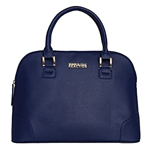 Kenneth Cole Reaction Poppins Dome Satchel (Saffiano Royal)