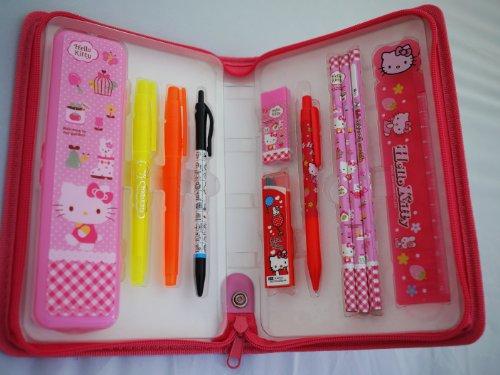 11pcs sanrio hello kitty school supplies value set with