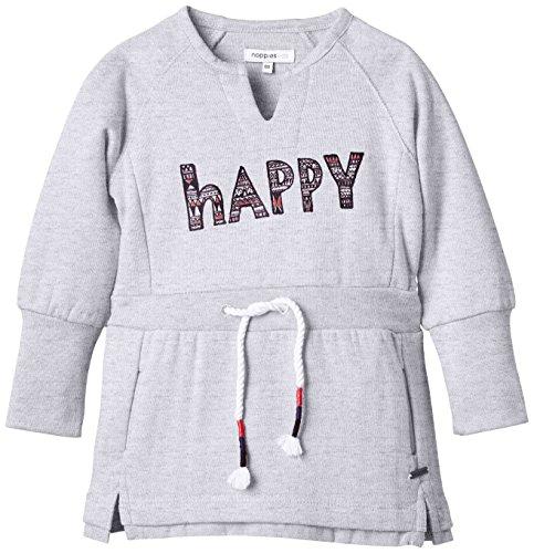 Noppies Mädchen Kleid G Dress sweat ls Lot, Gr. 128, Grau (Light Grey Melange C245)