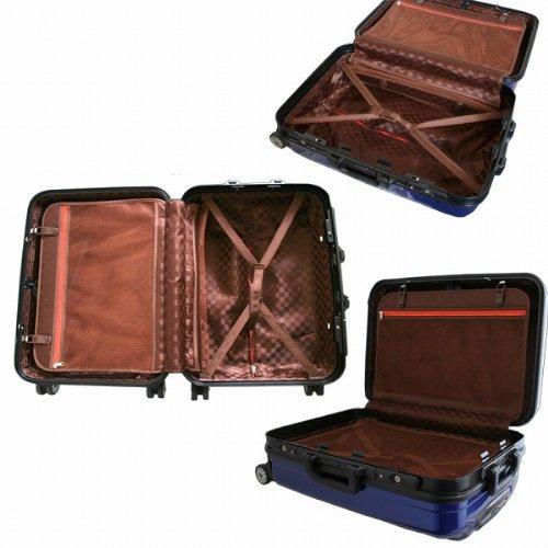 スーツケース 超軽量 moa DL1125 Fサイズ フレームタイプ ダブルキャスター TSAロック搭載 (ピンク)