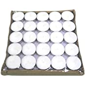 Pure Source India 1000 Pcs Pack Of Tea Light Candles Smokeless 3 Hrs Burning .(Packing 50 Pcs In One Sealed Poly...