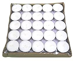 Micro 100 Tools Pure Source India 100 pcs pack of Tea Light Candles smokeless 3.5 hrs burning .