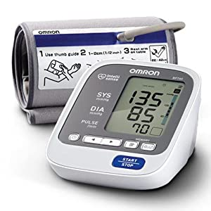 Omron BP760 7 Series Upper Arm Blood Pressure Monitor, Gray/white, Large