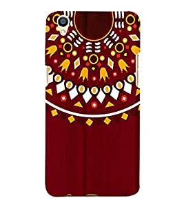 Mandela Indian Rangoli 3D Hard Polycarbonate Designer Back Case Cover for Oppo F1 Plus