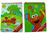 Elmo 2 Pc Memo Pads - Sesame Street Note Book 2pcs - Elmo Notepads