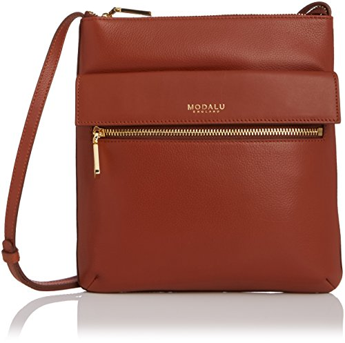 Modalu Womens Erin Cross-Body Bag Dark Tan