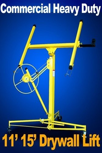 Commercial 11' 15' Yellow Drywall Lift 150 Lbs Panel Sheetrock Lifter Jack Hoist