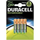 Duracell - Pile Rechargeable (HR03) - AAA x 4 - 950 mAh/1.2V