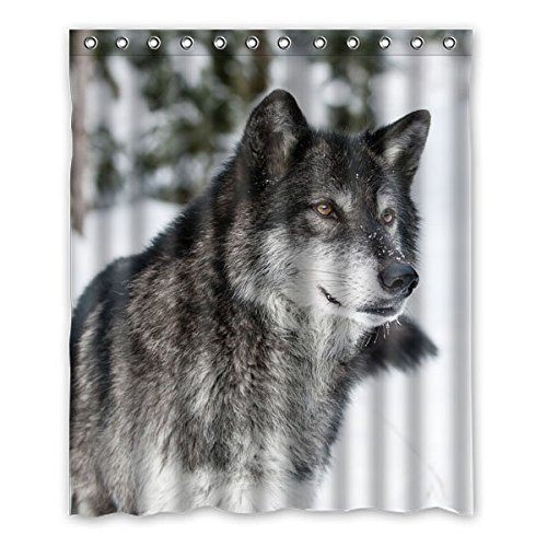 "152 centimetri x183 cm (60 ""x72"") Bagno Doccia Tenda, universale personalizzato Snow Wolf bello, Animale casuale Tema Bathroom Shower Curtain"