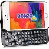 DONZO Tasche / Case inkl. Bluetooth Tastatur (deutsches Tastaturlayout, QWERTZ) für Apple iPhone 6 mit Backlight - schwarz