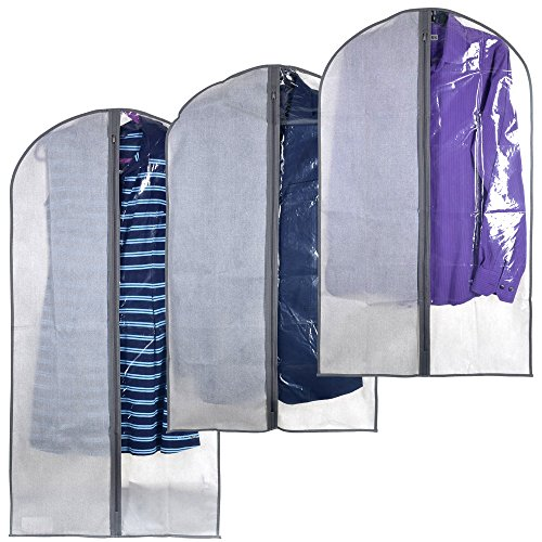 Perfect Garment Bags for Suits - Dress Bag Set for Easy Storage or Travel (Clear Dress Garment Bag compare prices)