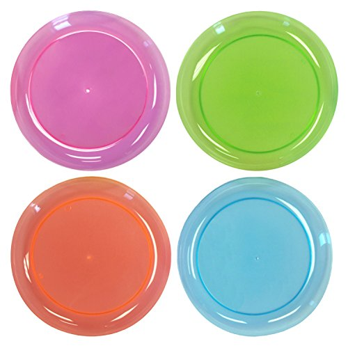 Neon Colours Plastic Dinner Plates