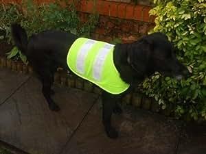Pet Dog Hi Viz Fluorescent High Visibility Safety Vest Coat Jacket