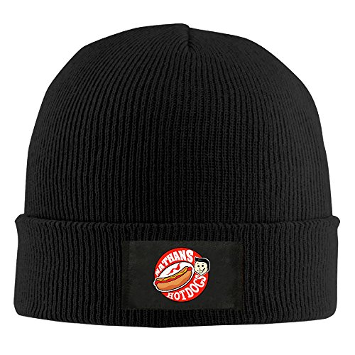 UglyBee Unisex Delicious Nathan's Hot Dog Knitted Wool Beanie Skull Caps (Hot Dog Beanie compare prices)