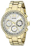 Guess Women's U0559L2 Analog Quartz Movement Stainless Steel Gold-Tone Multi-Function Watch
