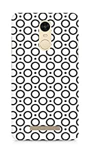 Amez designer printed 3d premium high quality back case cover for Xiaomi Redmi Note 3 (Black n White Pattern6)