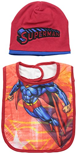 Baby-Boys Infant Superman Character Bib and Bootie Set - 1