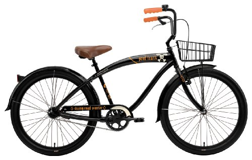 Nirve Men's Paul Frank 1-Speed Road Warrior Bike (Black, 18-Inch Frame - 26-Inch Wheels)
